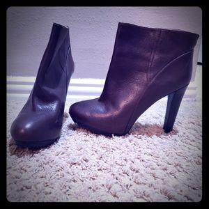 Brown High Heel Booties